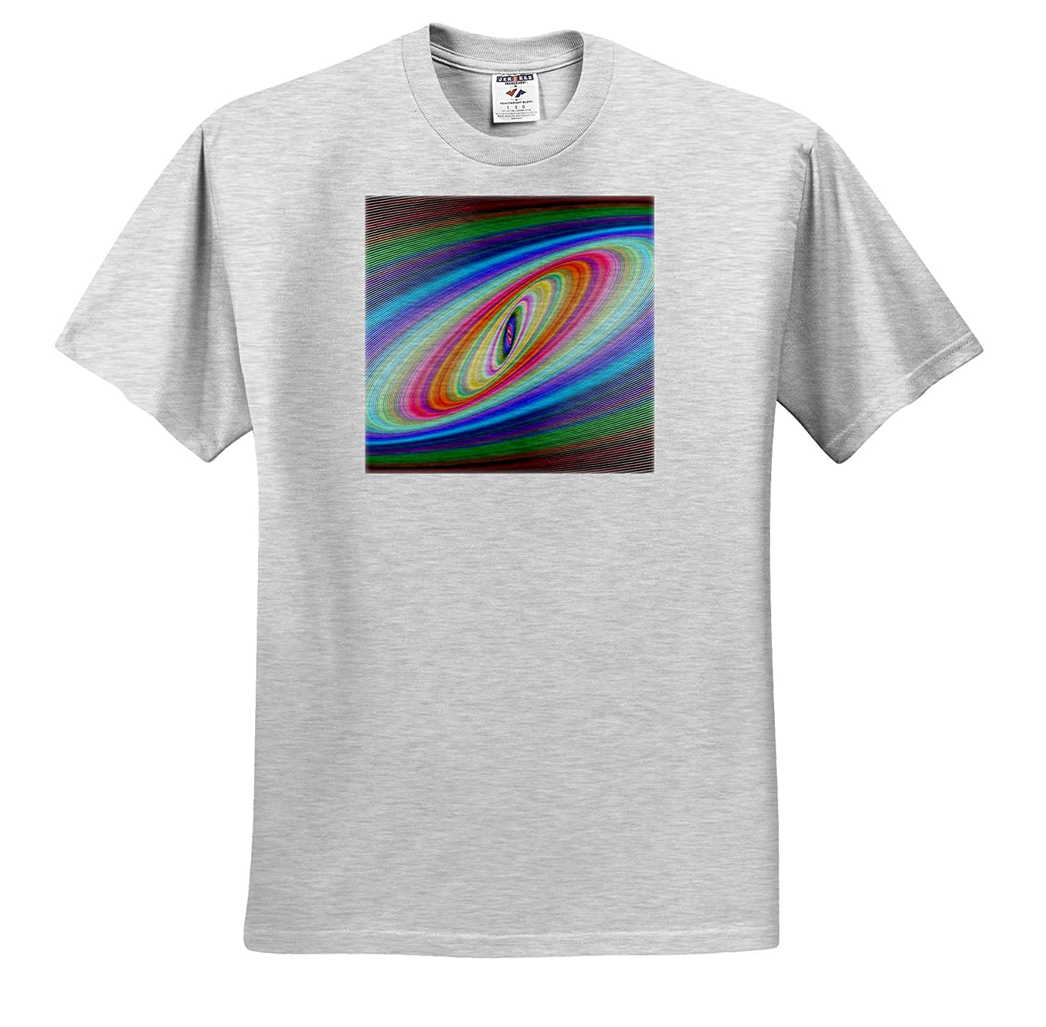 Fractal Art 3dRose Lens Art by Florene Image of Rainbow Colored Space Rings Fractal T-Shirts