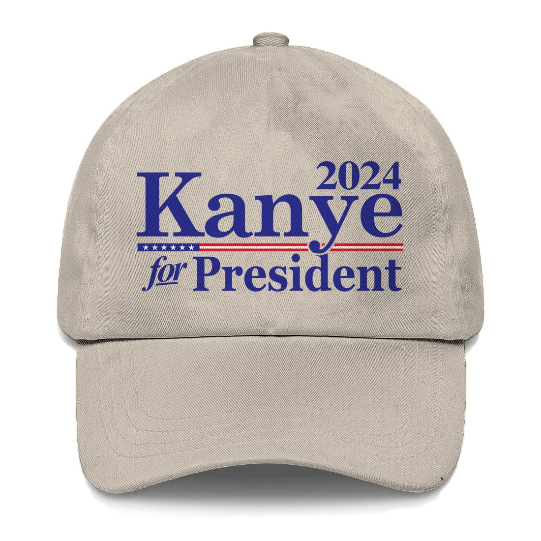 Tcombo Kanye for President 2024 Dad Hat (Stone) by Tcombo (Image #1)