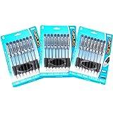Inc. ClipClick Ball Point Retractable Pens - 24 Black Ink 1.0 mm Pens