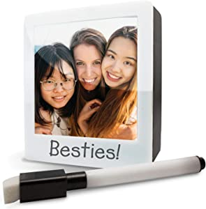 "2 in 1 Personal Pictures Photos Light Box and Lighted Memo Board - Desktop Tabletop Lighted Photo Frame or Dry Erase Memo Board . Holds 3"" x 3"" size Photograps Includes Dry Erase Marker with Eraser"