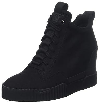 cb4b55c3bf76 Amazon.com  G-Star Raw Women s Rackam Core Wedge Hi-Top Trainers  Shoes