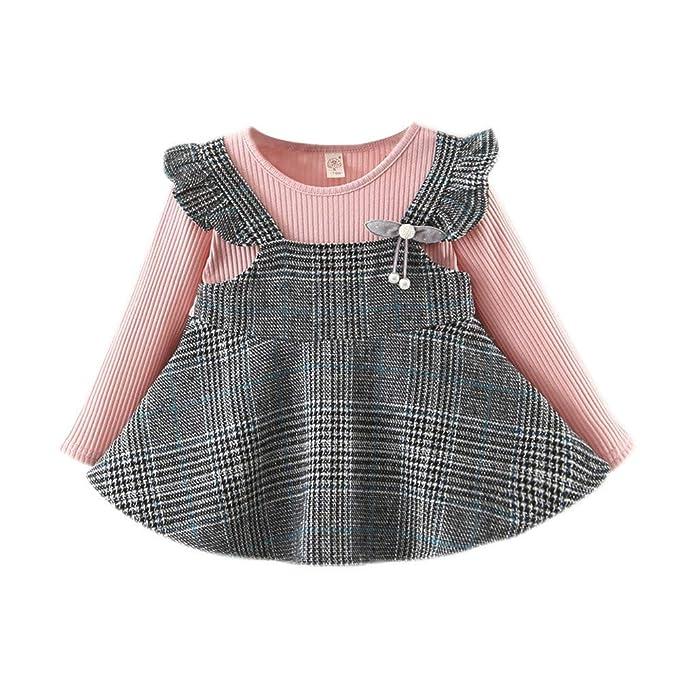 Wang-RX Vestido para bebés Elegantes Niños Niñas Volantes ...
