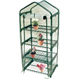 "Worth Mini Greenhouse 4 Tiers Collapsible Metal greenhouse shelves 27"" L x 19"" W x 61"" H"