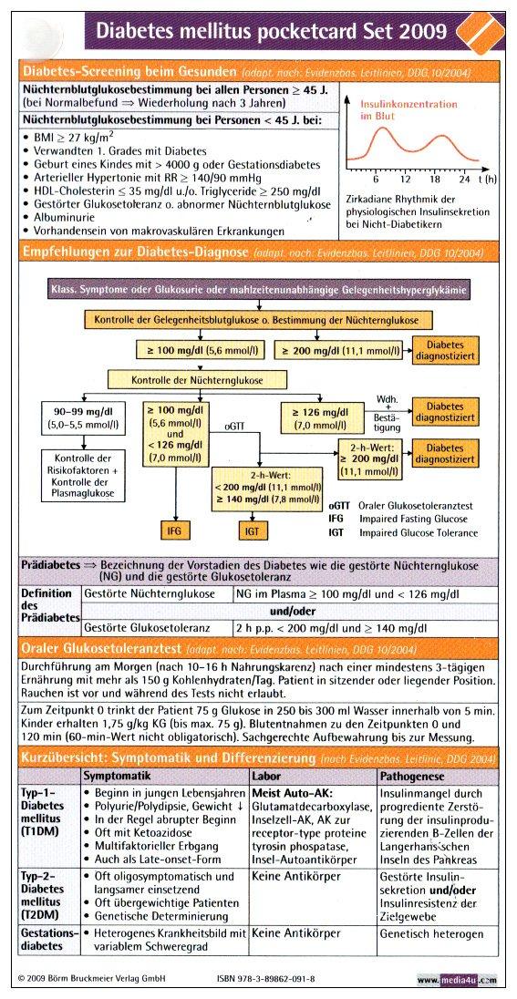 Diabetes mellitus pocketcard (3er-Set)