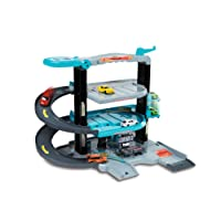 Majorette - 212058388 - City Flex - Garage Pliable Vehicule Miniature - Gris Bleu