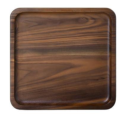 Rústico Nogal de madera bandeja de madera bandeja de desayuno plato tapas bandeja bandeja de té