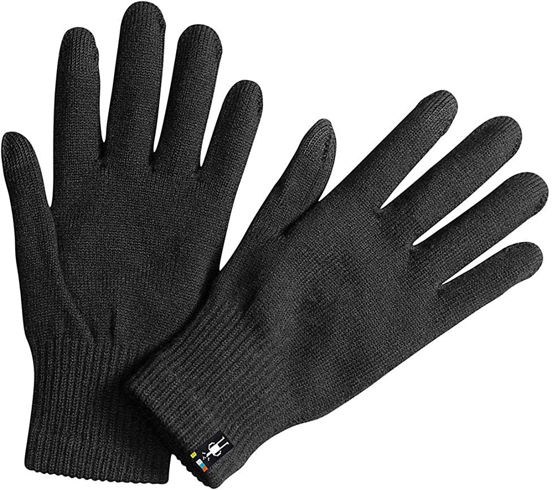 Smartwool Merino Wool Liner Glove - Touch Screen Compatible Design for Men and Women BLACK L Mens: Clothing