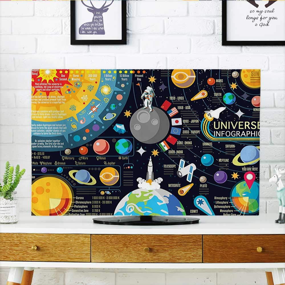 Leighhome Protect Your TV New Horizons of Solar System Infographic Pluto Venus Mars Protect Your TV W20 x H40 INCH/TV 40''-43''