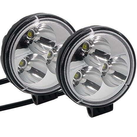 Motocicletas Luces LED Luces de cruce Faros delanteros auxiliares Luces de conducción de trabajo de niebla
