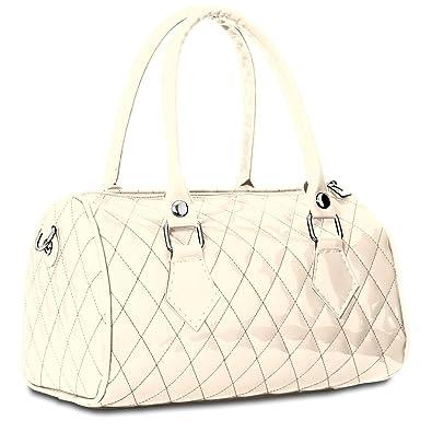 a0c291fee2 CASPAR - Petit sac à main vernis pour femme - Sac bowling - plusieurs  coloris -. Passez la ...