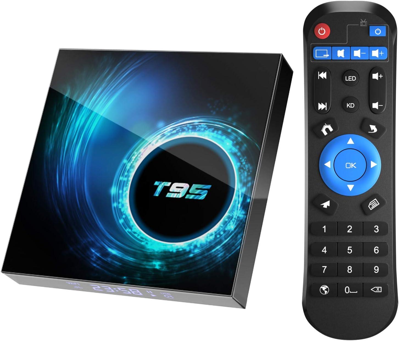T95 Smart TV Box Android 10.0 H616 QuadCore 6K HD4+32GWiFi Netzwerk Media Player