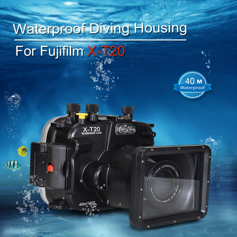 Sea frogs for Fujifilm X-T20 / X-T10 (16-50) 40m/130ft Underwater Camera Housing by Sea frogs