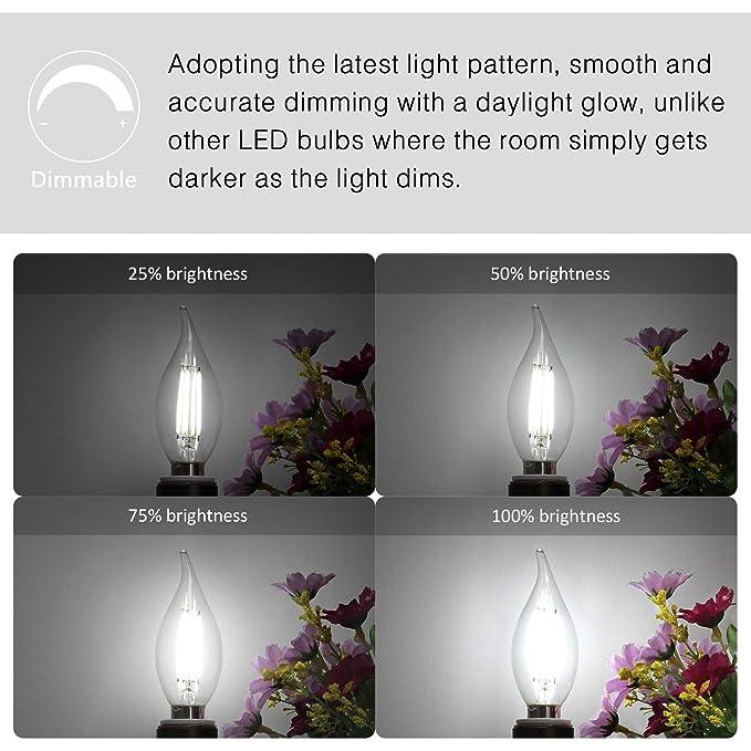 Amazon.com: Boncoo E12 Candelabra Bombillas LED regulables ...
