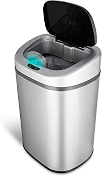 Nine Stars DZT-80-4 21.1-Gallon Infrared Touchless Trash Can