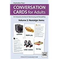 Conversation Cards for Adults, Nostalgic Items – Reminiscence Activity for Seniors / Alzheimer's / Dementia / Memory Loss Patients and Caregivers – 52 Cards