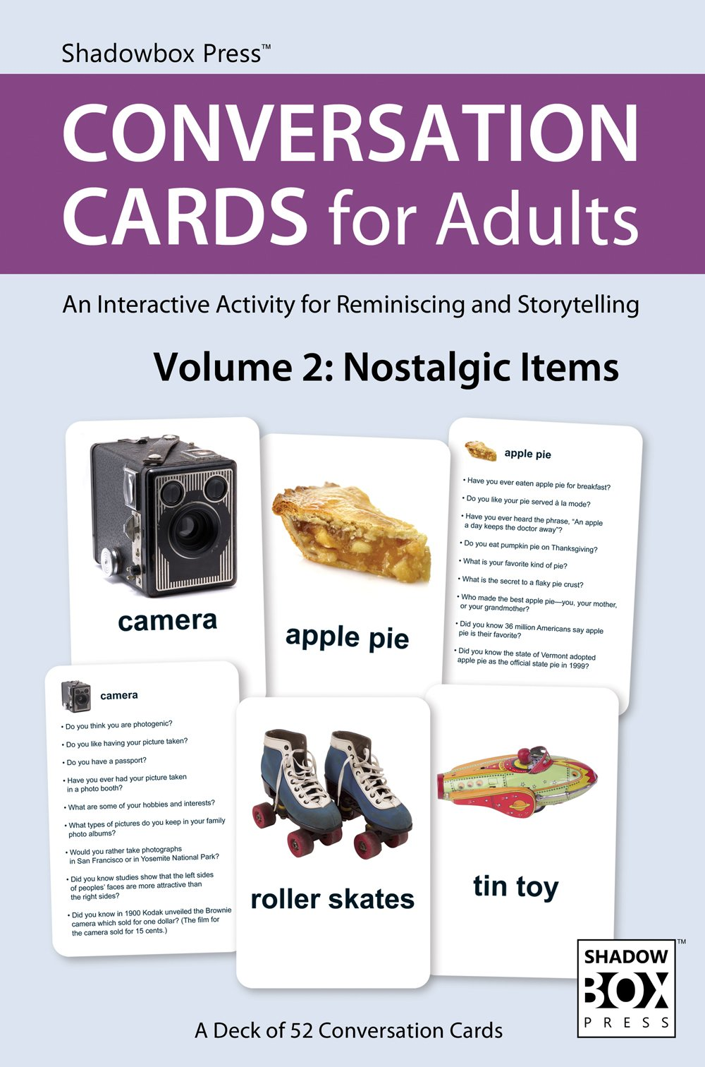 Conversation Cards Adults Reminiscence Alzheimers product image