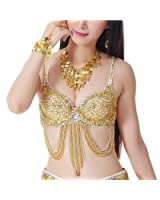 BellyLady Belly Dance Tribal Sequined Bra Top, 34A/34B/36A, Christmas Gift Idea