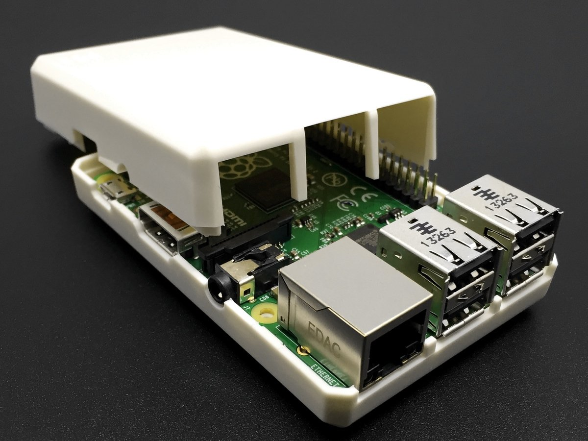 sb components White Closed Case for Raspberry Pi 3 and Raspberry Pi 2 Model B Good for Xbmc Users