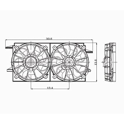 amazon com: cpp dual cooling fan for chevy malibu, grand am, alero, cutlass  gm3115105: automotive