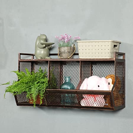 Hanging wall storage Closet Retro Iron Mesh Walls Shelf Wall Hanging Wall Storage Storage Rack Living Room Amazon Uk Retro Iron Mesh Walls Shelf Wall Hanging Wall Storage Storage