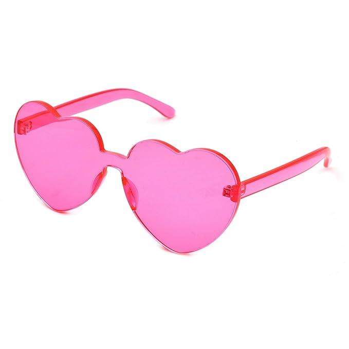 Amazon.com: JUSLINK - Gafas de sol con forma de corazón para ...