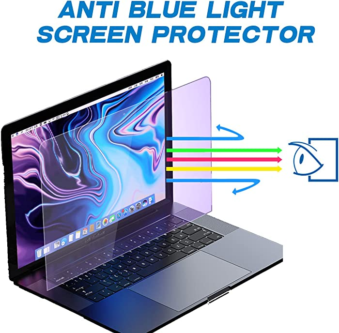 12.5''W Inch Anti Blue Light Screen Protector for Widescreen Laptop - Upgrade Laptop Screen Protector Filter Out Blue Light Relief with Aspect Ratio 16:9 - Reduce Eye Fatigue Strain (2 Pack)
