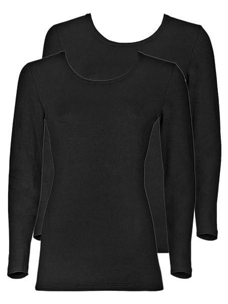 Sangora - Pack de 2 Camisetas de manga larga para mujer 8010830 Negro S
