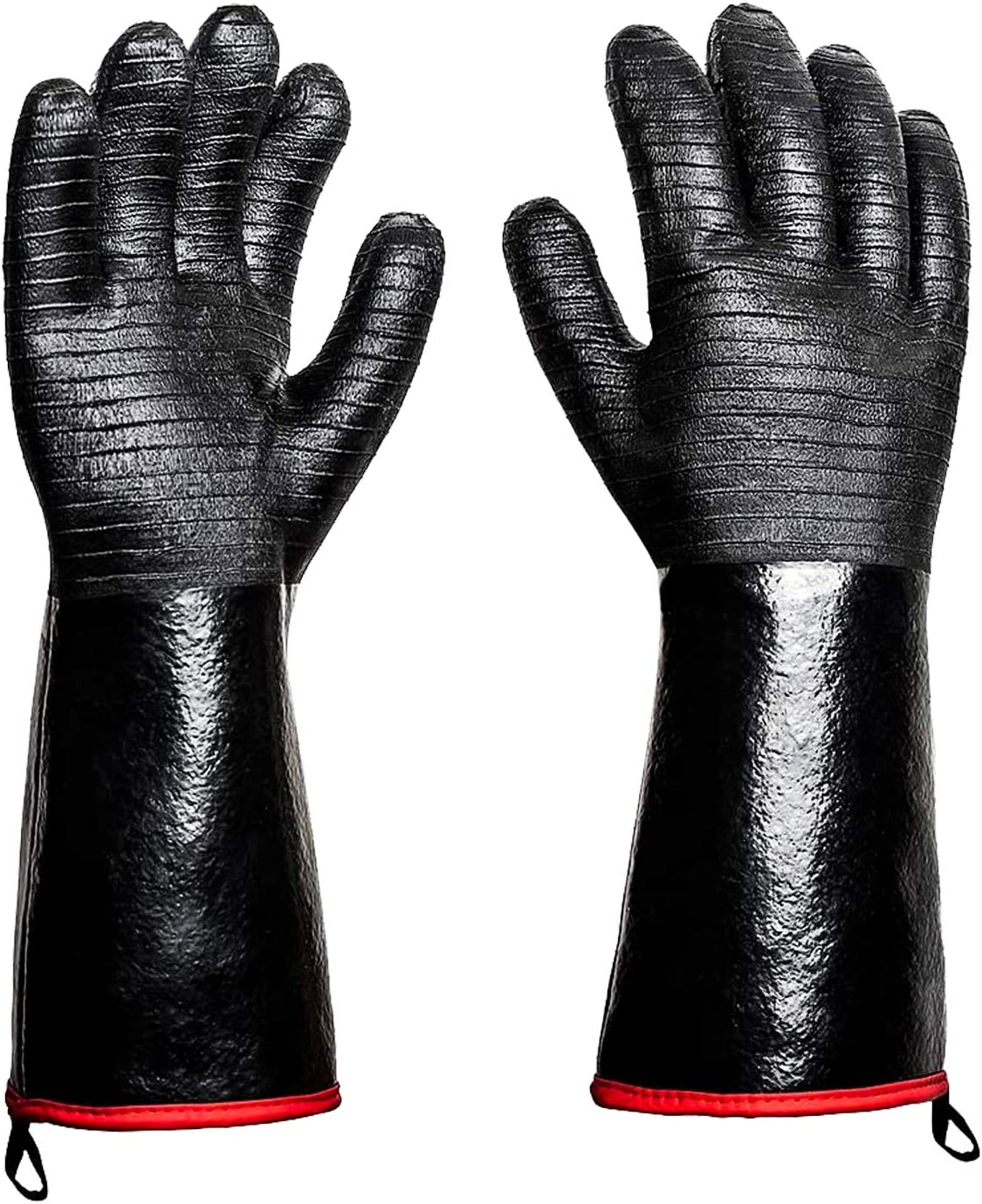 Rayocon BBQ Grill Gloves 932°F Heat Resistance Barbecue Grilling Gloves Kitchen Oven Mitts Cooking Gloves for Turkey Fryer/Cooking/Baking/Welding/Cutting/Frying, 14 Inch (14 inch)