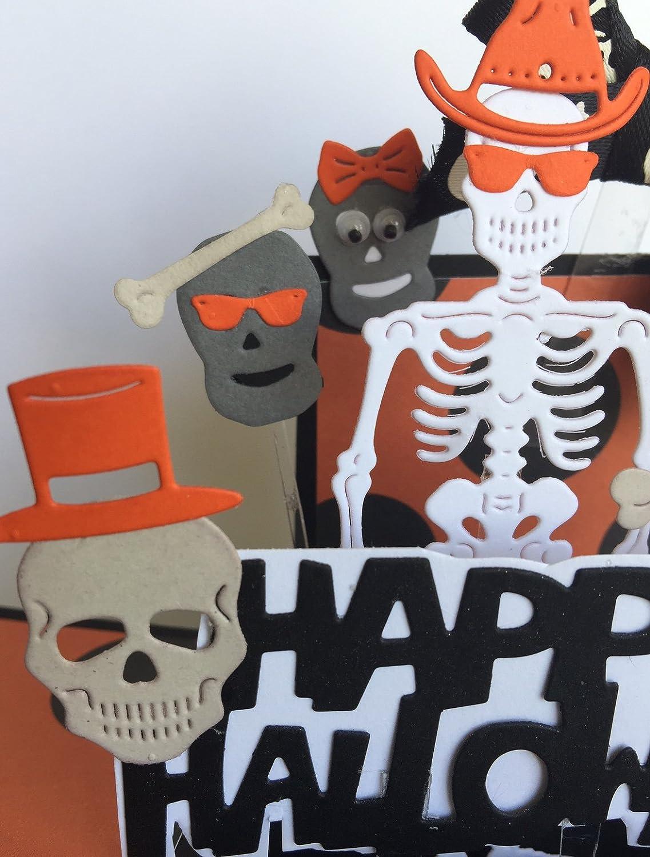 Amazon.com: Halloween pop up box card - 3d skeleton pop up ...