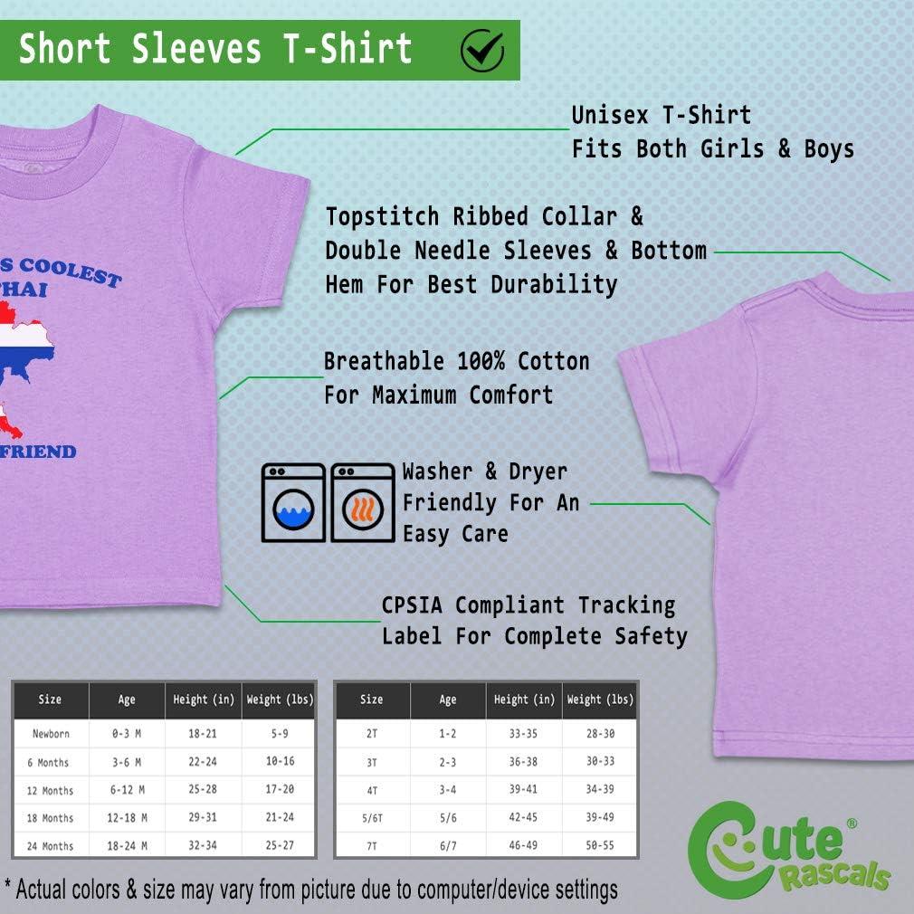 Custom Baby /& Toddler T-Shirt Worlds Coolest Thai Boyfriend Boy Girl Clothes