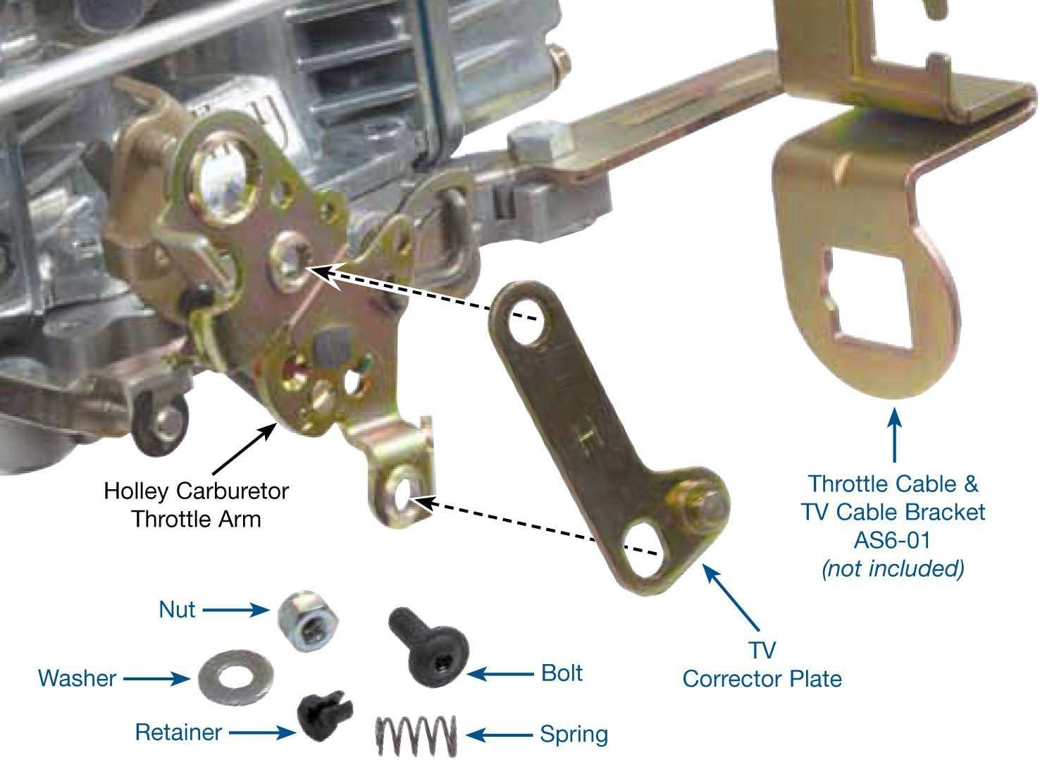Holley 20-121 Carburetor  Kickdown Bracket
