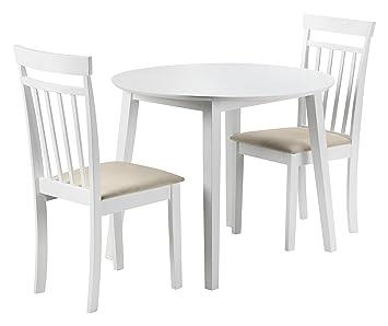 Fantastic Julian Bowen Coast Drop Leaf Table And 2 Chairs Wood White Cjindustries Chair Design For Home Cjindustriesco