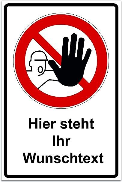 3 mm Alu-Verbund Schild Essen und trinken verboten
