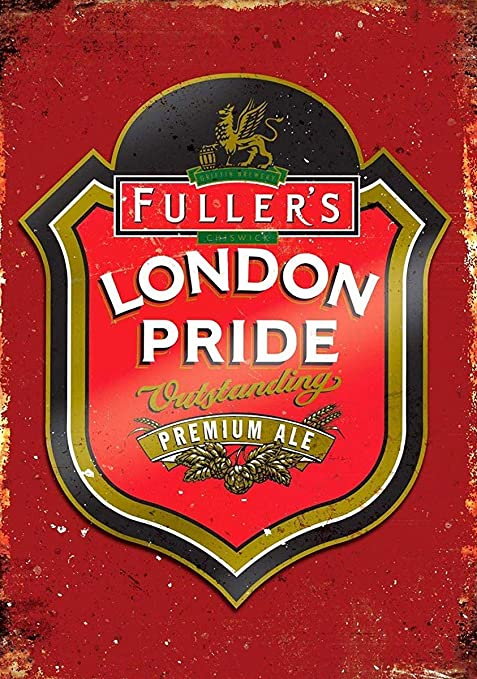 ndts london pride ale beer vintage tin sign metal decor metal sign wall metal tin sign metal sign 8x12 inches