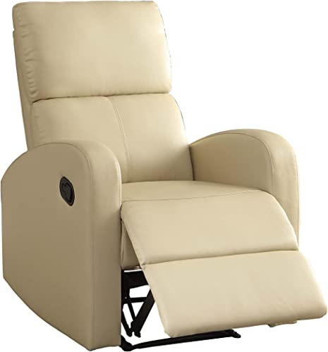 Homelegance Reclining Chair, Taupe Bi-Cast Vinyl