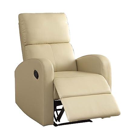 Homelegance 8404TP-1 Reclining Chair, Taupe Bi-Cast Vinyl