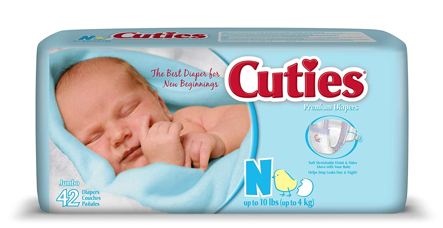 Amazon.com: Cuties Jumbo Pack Diaper, Size 4, 124 Count: Health & Personal Care