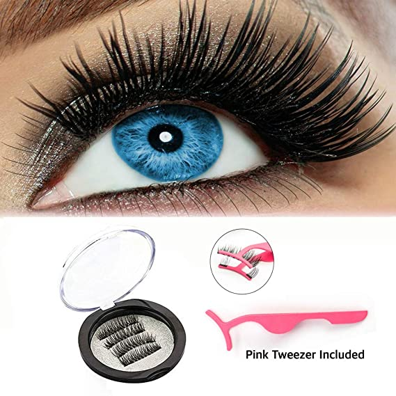 4929d128b7c Image Unavailable. Image not available for. Color: Magnetic Eyelashes,Mimosal  3 Magnetic Best Fake Lashes for Natural Look,3D Reusable No