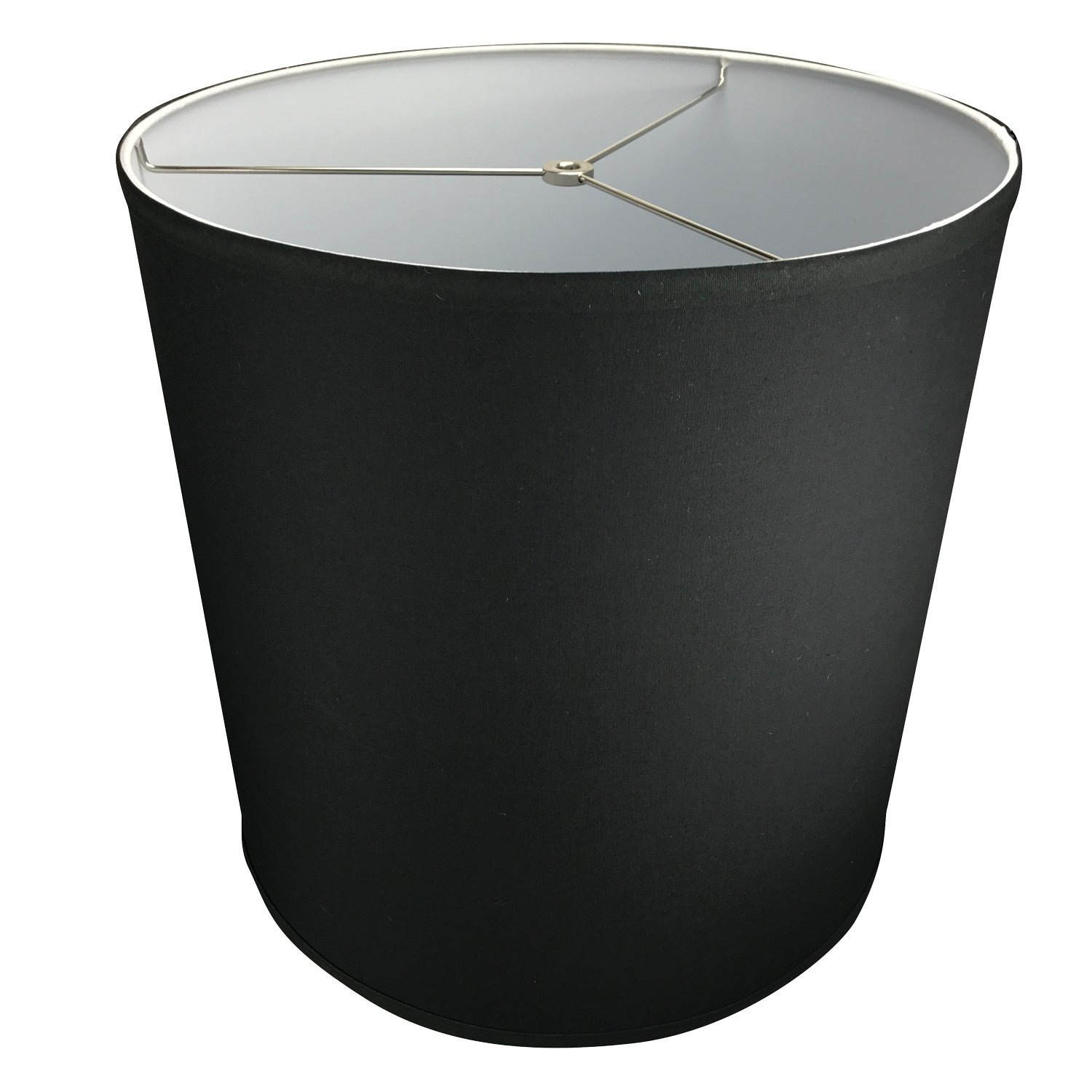 FenchelShades.com 16'' Top Diameter x 16'' Bottom Diameter 16'' Height Lampshade USA Made (Black)