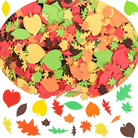 Amazon.com: Thanksgiving Foam Maple Fall Leaves Craft Stickers Assorted  Self-Adhesive Autumn Fall Leaf Shapes Stickers For Kid's, Toddlers,  Teachers Art Craft Thanksgiving Party Decoration, 300pcs: Kitchen & Dining