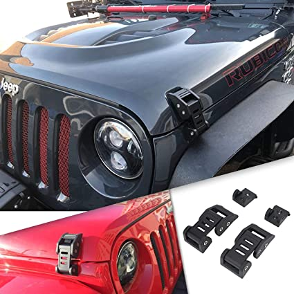 Amazon Com Jeep Wrangler Unlimited Accessories Hood Latches For