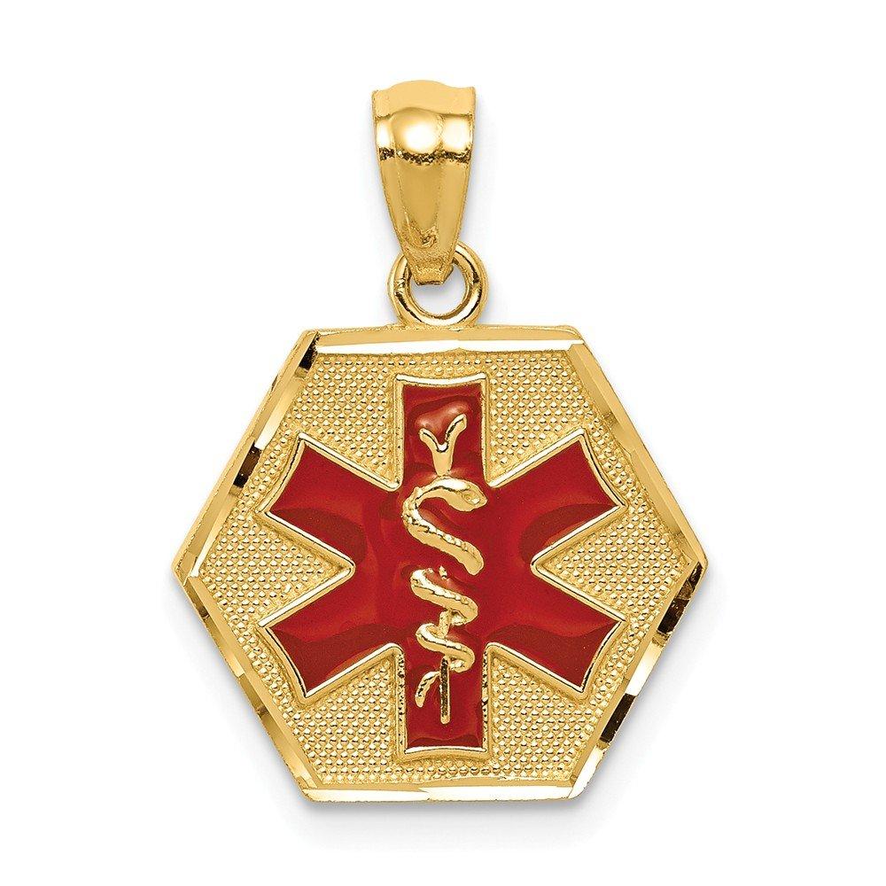 14K Red Enameled Medic Idaho Pendant