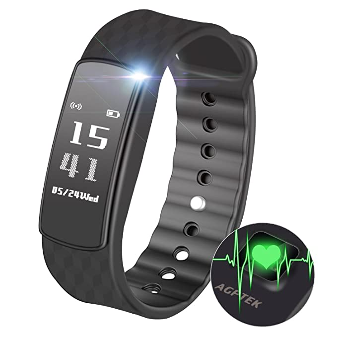AGPTEK Fitness Tracker, Ritmo cardíaco Monitor de sueño ...