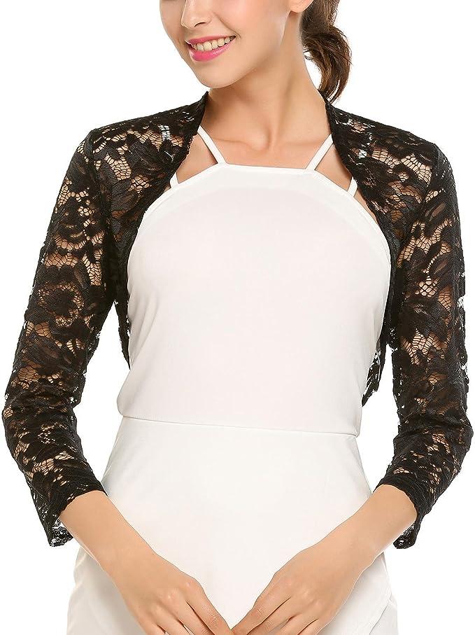 Womens Ladies Long Sleeve Bolero Shrug Lace Plus Jacket Crop Mini Tops Cardigan