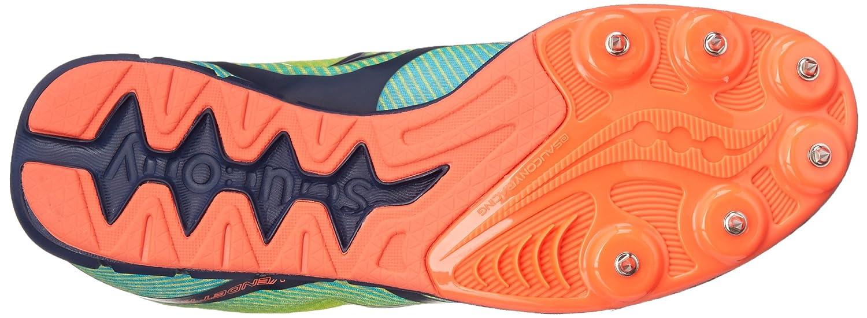 Zapato Spike para mujer Vendetta, Citron / Blue / Coral, 12 M US
