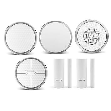 SMANOS K1 SmartHome Starter Kit - Sistema de Alarma Wifi para el Hogar, Alarma Contra Robo en el Hogar, Sensor de Movimiento para Puerta, Aplicación ...