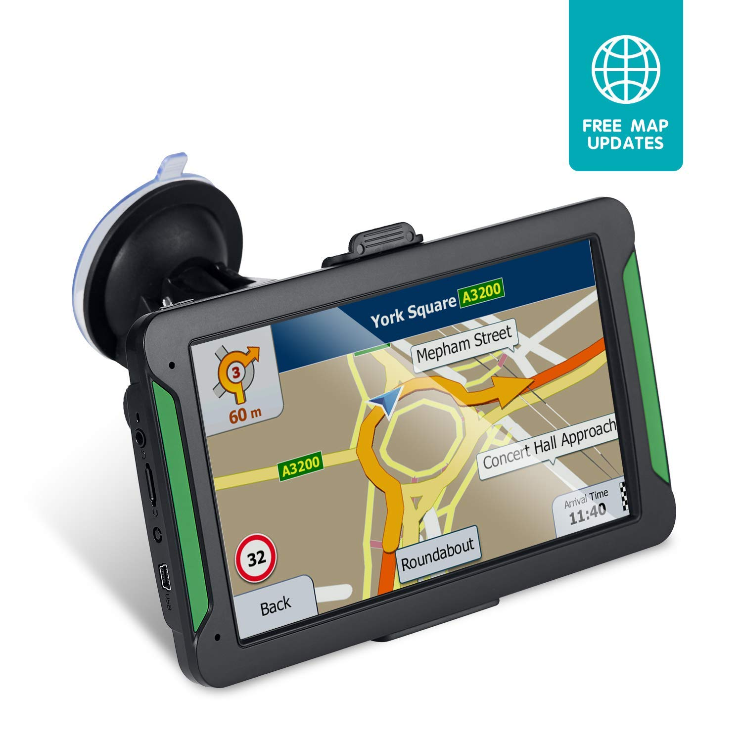 GPS Navigation for Car, 7 Inch 8GB HD Touch Screen Built-in 256MB GPS  Navigation System Spoken Turn-by-Turn Directions for Car Vehicle GPS  Navigator