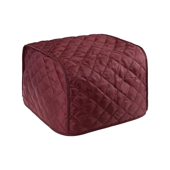 BCP Polyester Fabric Quilted Four Slice Toaster Appliance Dust-proof Cover (Red)