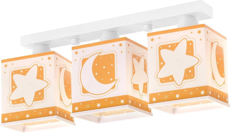 Dalber 63233J - Lampada da soffitto a 3 punti luce, in plastica, 48 x 12,5 x 20,5 cm, colore: Arancio