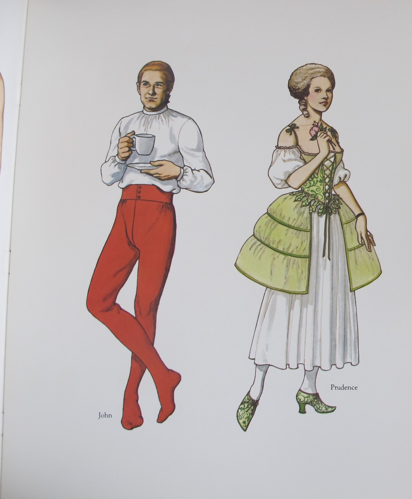 Tom Tierney AMERICAN FAMILY of The COLONIAL ERA PAPER DOLLS Book (UNCUT) in Full Color w 8 Card Stock DOLLS & 32 Card Stock COSTUMES (1983 Dover) by Unknown (Image #2)